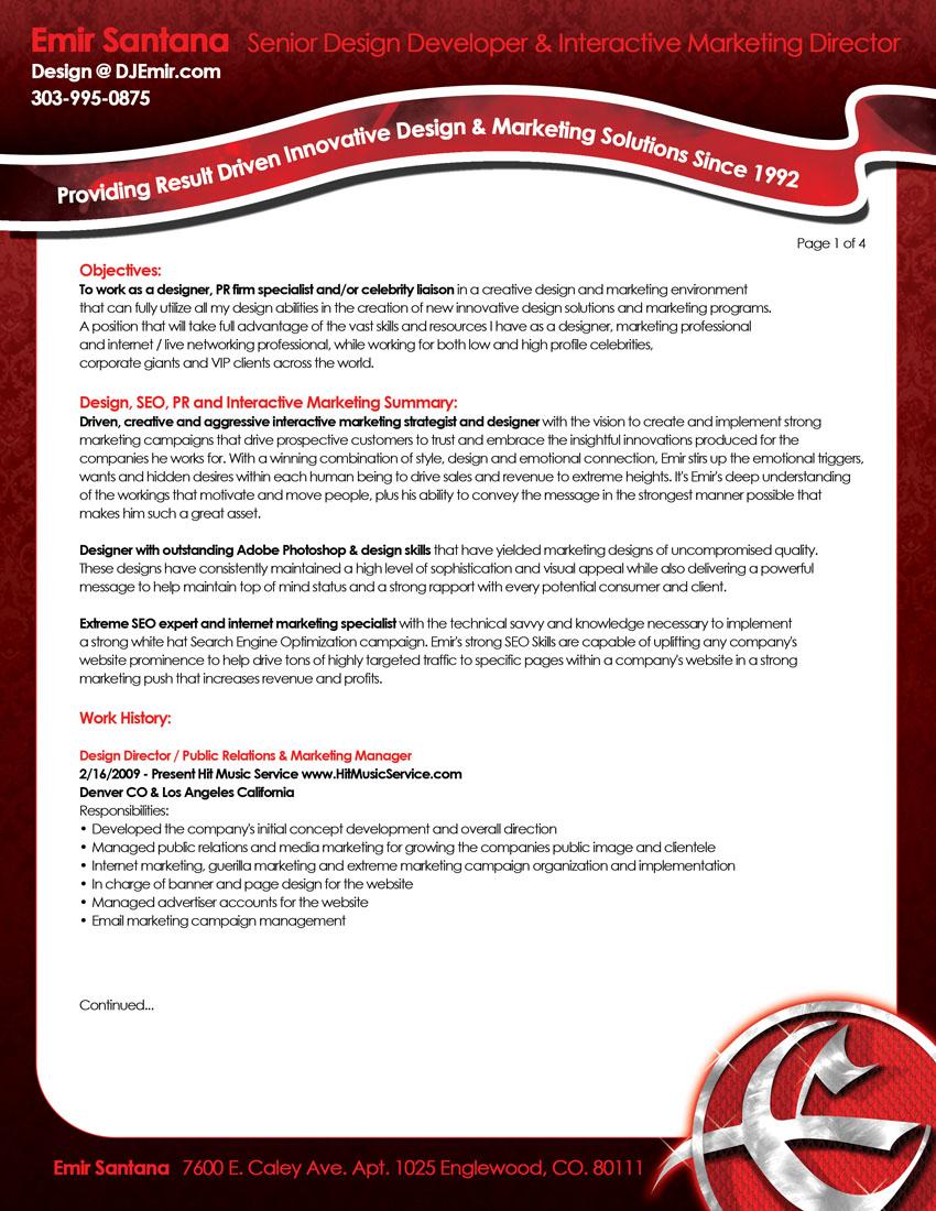 Resume help denver co